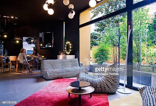 Ligne Roset's Togo sofa designed by Michel Ducaroy displayed at Spazio Pontaccio showroom. Milan, Italy. 2013