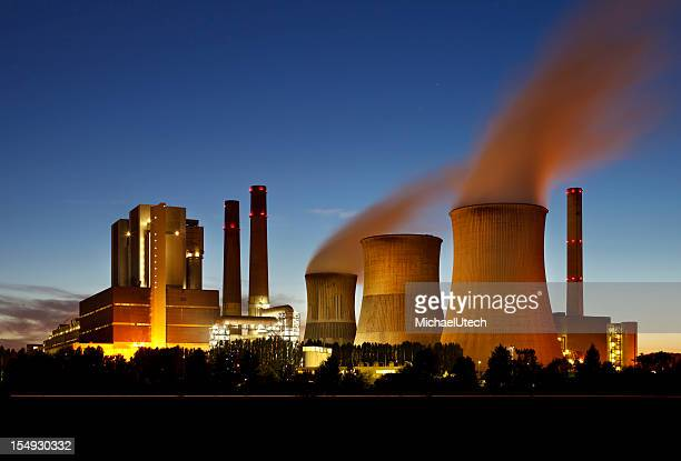 Lignite Power Station At Night