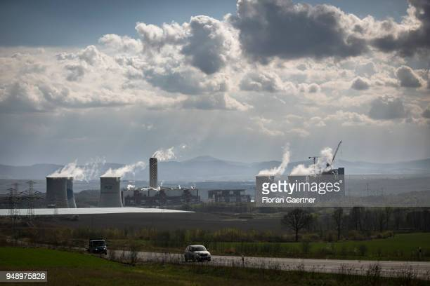A lignitefired power plant is pictured on April 13 2018 in Bogatynia Poland