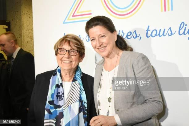 Ligue Contre Le Cancer President Jacqueline Godet and Minister Agnes Buzyn attend La Ligue Contre Le Cancer Celebrates Its 100th Anniversary at Cite...