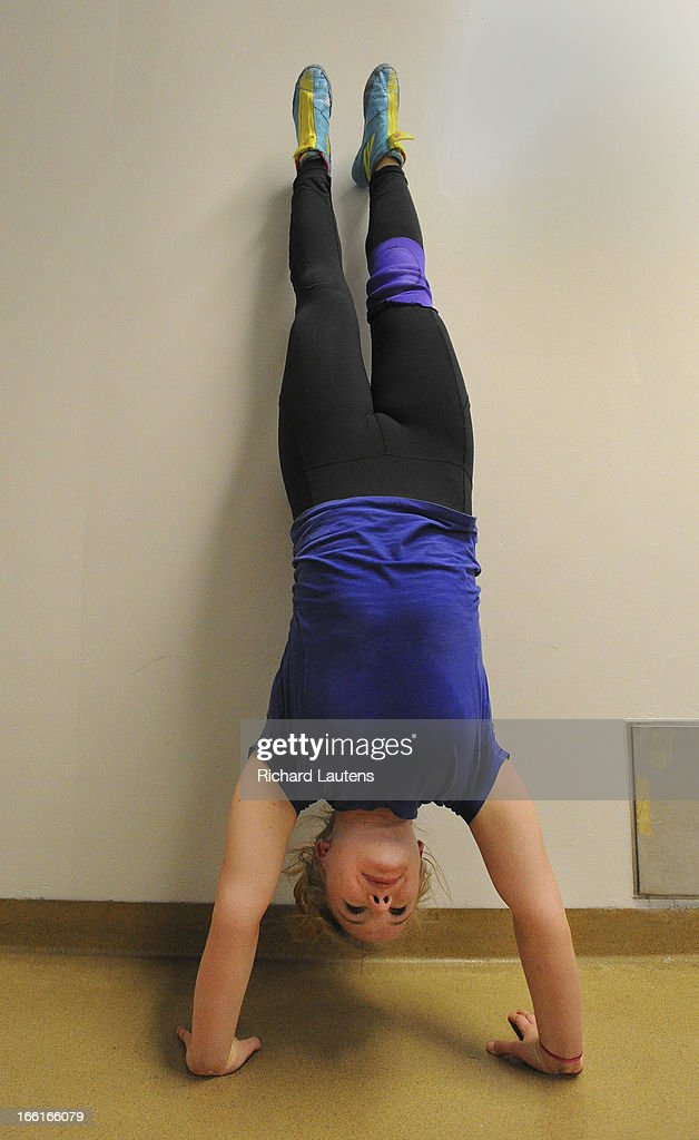 Liisa does handstands to build up some strength between practice bouts. Wrestler Liisa Wainman 19, was a 2020 Olympic hopeful until the IOC pulled the plug on wrestling. She changed her choice of University and potential career path just so she could wrestle at a higher level. She is training at Brock University where she goes to school. This is for a story on the 8 sports considered for 2020 Olympics, baseball/softball, wrestling, squash, sport climbing, roller sports, wakeboarding, karate, wushu.