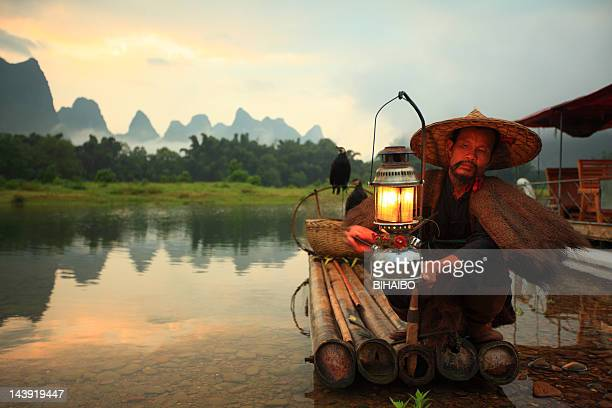 lijiang fishermen - yunnan province stock pictures, royalty-free photos & images