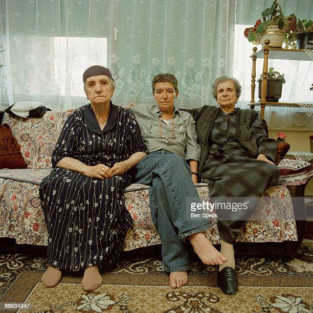 Lika Thera aged 57 sits with her mother and aunt in their apartment In the patriarchal rural Albanian society the ageold tradition of the Virgjineshe...