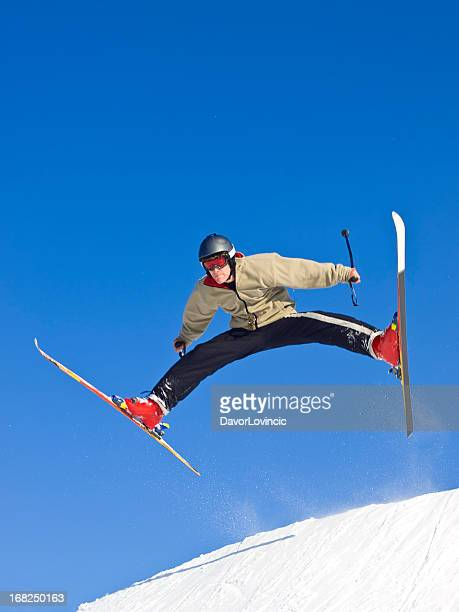 like a butterfly - ski jumping stock pictures, royalty-free photos & images