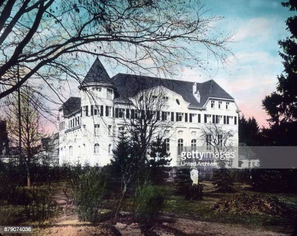 Like a little castle is surrounded by green gardens the companions house in Ravensburg in WŸrttemberg