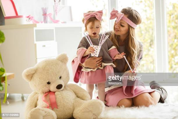 like a twins - mama bear stock photos and pictures