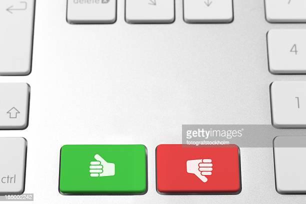Like and dislike keys