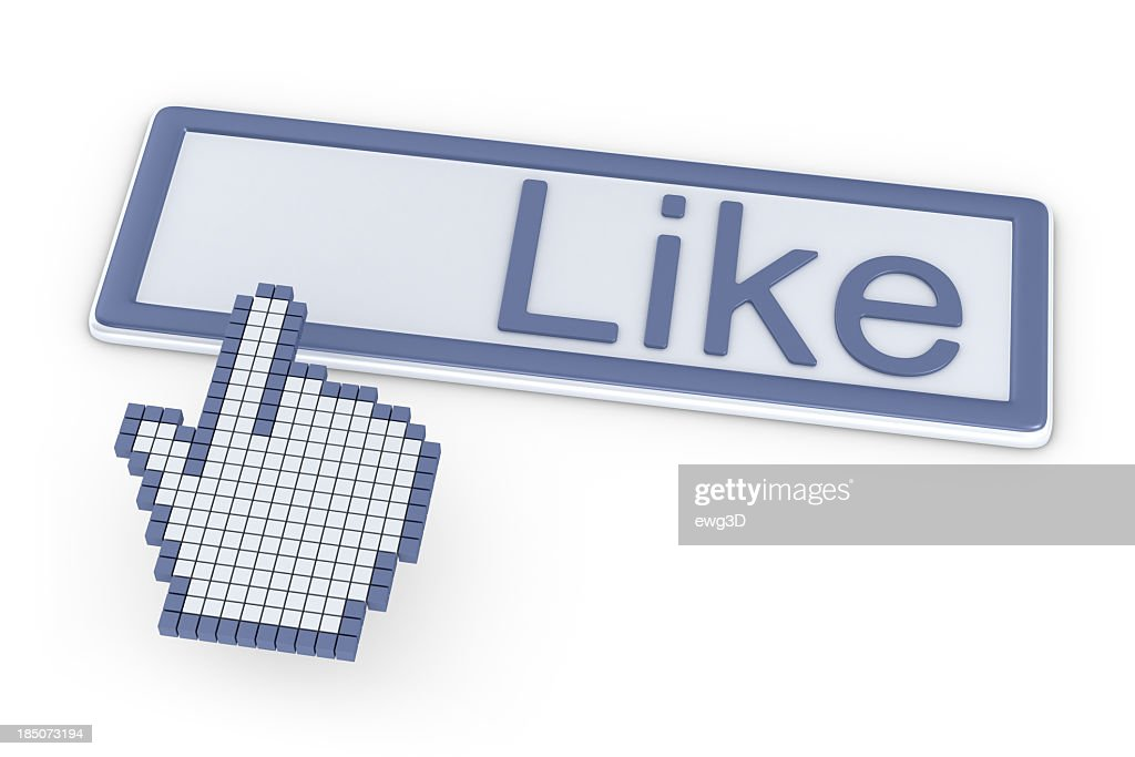 Like Button and Cursor Hand : Stock Photo
