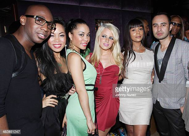 Like Destin ToTam TonNu ToNya TonNu Jaimie Hilfiger Alisa Maria and Carlos Campos attend the Tagline launch party at The Gates on May 25 2010 in New...