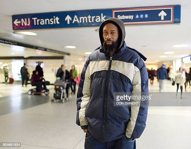 MATTHEW 'Like jail' New York homeless say shelters not the answer Dashaun Brown walks through the corridors at Penn Station January 6 2016 in New...