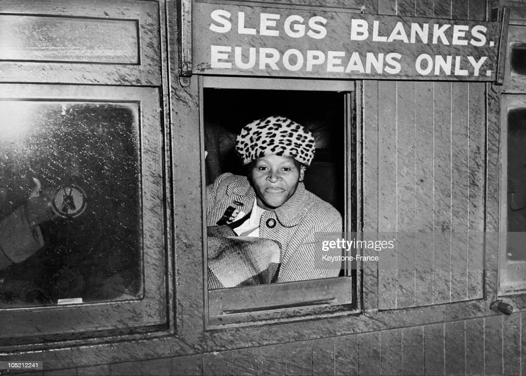 Like Many Of Her Peers, This Woman Sat In The Wagon Reserved For White People To Protest Against Malan'S Government And His Regime Of Apartheid, In South Africa On September 2, 1952. Having Come To Power In 1948, Daniel Francois Malan And His National Party Systematized Racial Segragation In South Africa.