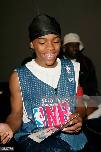 Like Mike star Lil' Bow Wow signing autographs at the W Hotel Times Square in New York City June 14 2002 Photo Evan Agostini/ImageDirect