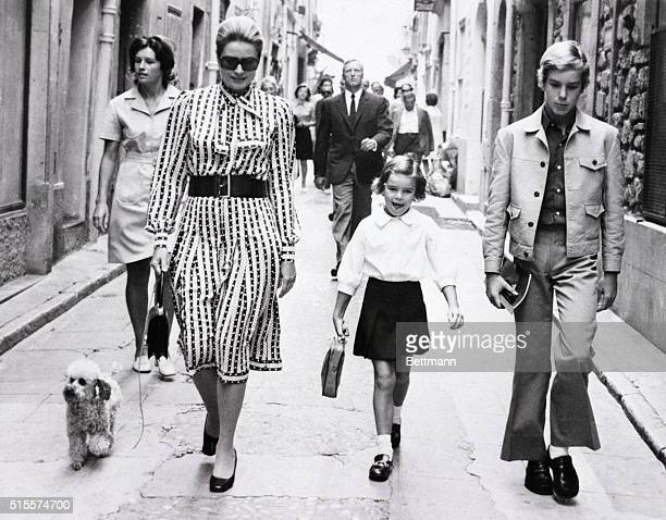 Like mothers everywhere Princess Grace of Monaco is all caught up in the excitement of her daughter's first day at school Princess Grace accompanies...