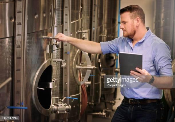 I like the mechanical side of wine
