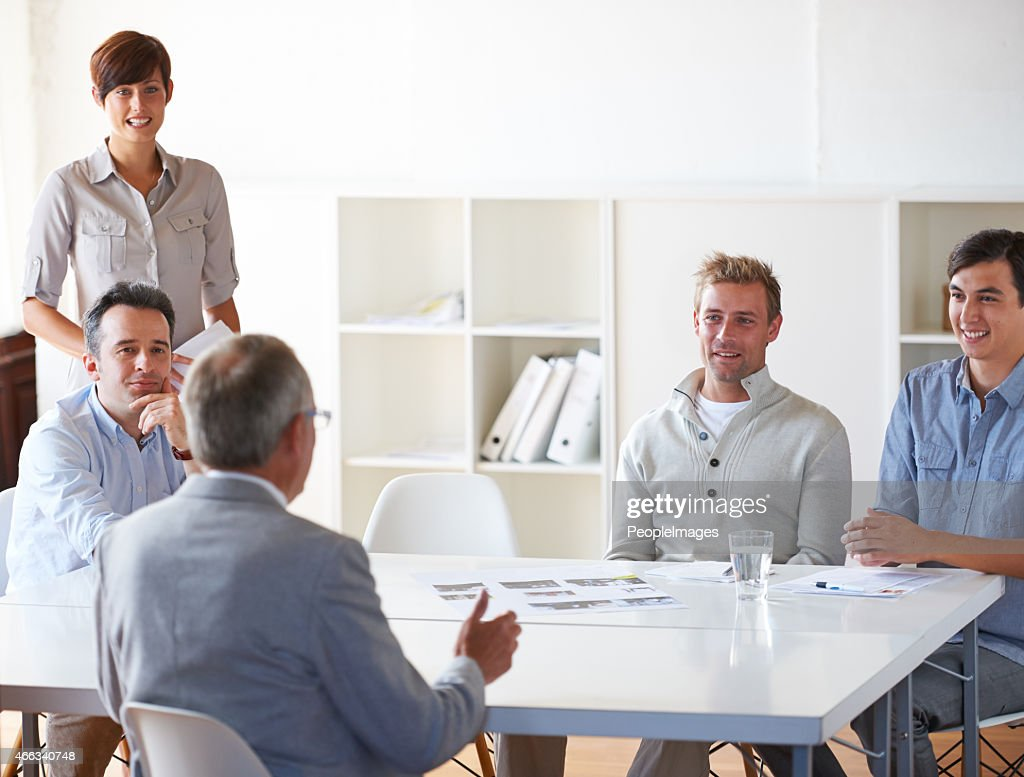 I like what your team has done here! : Stock Photo