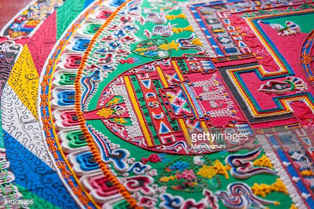 likir monastery, a mandala - mandalas india stock pictures, royalty-free photos & images