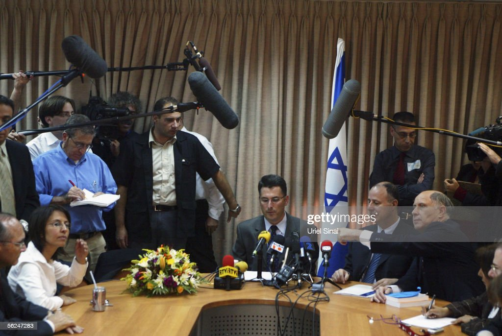 Ariel Sharon Announces Split From Likud To Form New Party : News Photo