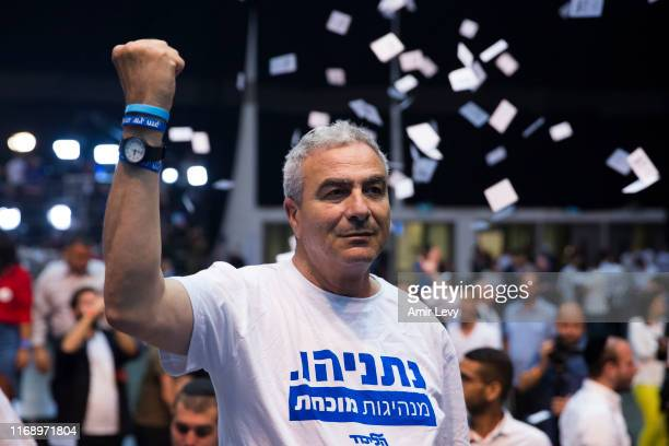 Likud Party supporter reacts to TV exit polls at the Likud Party after vote event on September 18 2019 in Tel Aviv Israel All TV exit polls see no...