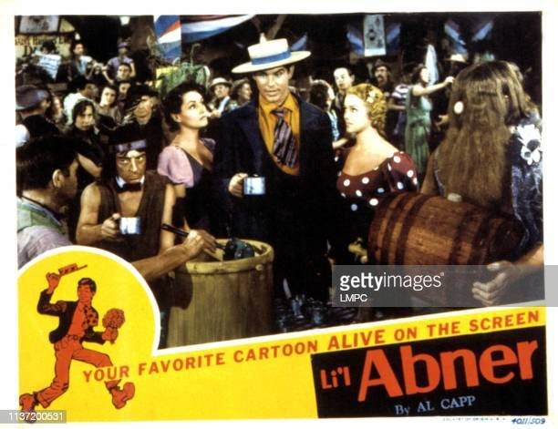 Li'l Abner, lobbycard, Buster Keaton, Kay Sutton, Granville Owen, Martha O'Driscoll, Bud Jamison, 1940.