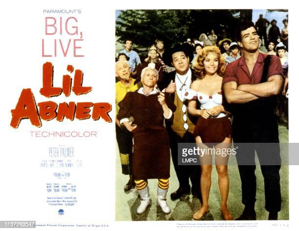 Li'l Abner, lobbycard, from left, Joe E. Marks, Billie Hayes, Stubby Kaye, Leslie Parrish, Peter Palmer, 1959.