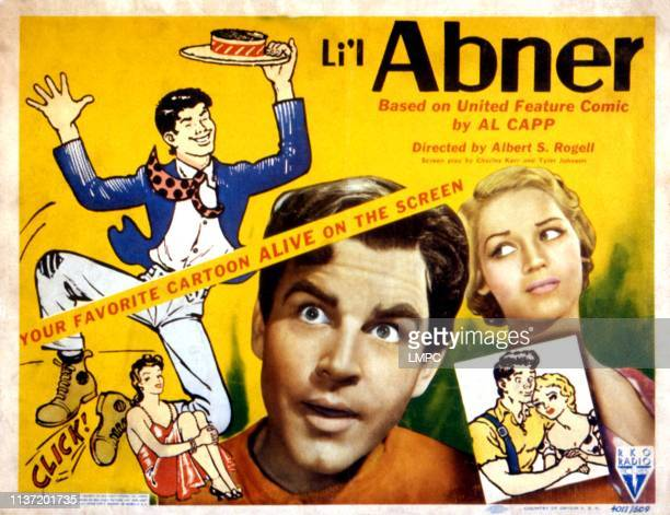 Li'l Abner, lobbycard, Granville Owen, Martha O'Driscoll, 1940.