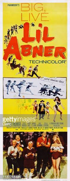 Lil Abner, poster, , US poster art, bottom from left: Joe E. Marks, Stubby Kaye, Billie Hayes, Peter Palmer, Leslie Parrish, 1959.