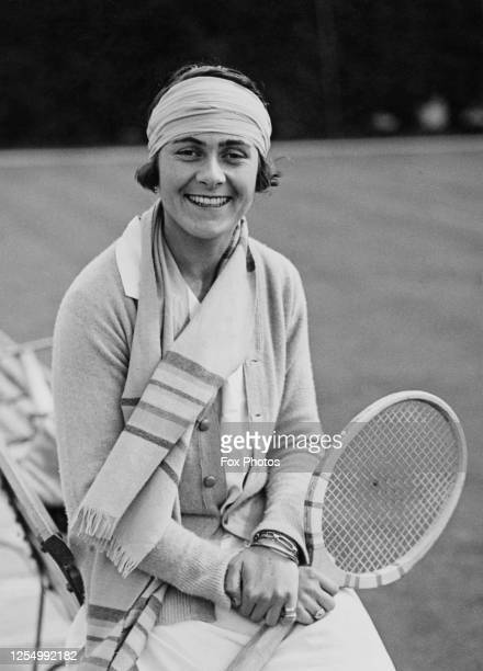 Lilí Alvarez also known as Lili de Alvarez of Spain poses for a photograph before the start of the Women's Singles competition at the Wimbledon Lawn...