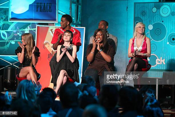 STUDIO CITY CA MAY 08 Lil B Sure Landon Brown Lucy Walsh Jesse Money Lara Johnston and A'Keiba Burrell during the live taping of the finale of Rock...