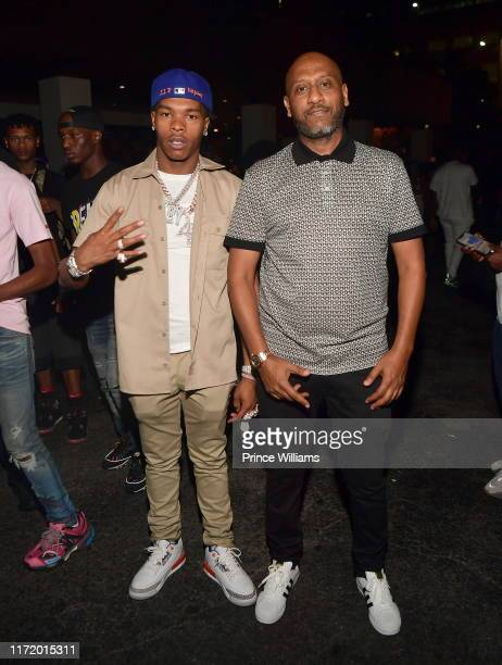 Lil Baby and Alex Gidewon attend Legendary Weekend Grand finale at Gold Room on September 2 2019 in Atlanta Georgia