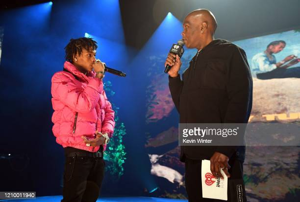 Lil Baby and Big Boy speak onstage during the iHeartRadio Album Release Party with Lil Baby at the iHeartRadio Theater on March 02 2020 in Burbank...