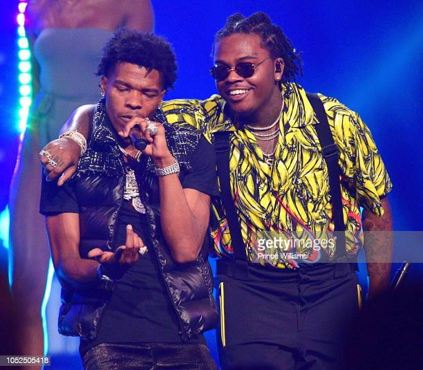 Lil Baby and Gunna perform at the BET Hip Hop Awards 2018 at Fillmore Miami Beach on October 6 2018 in Miami Beach Florida