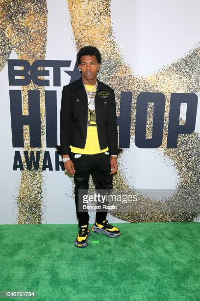 Lil Baby arrives at the BET Hip Hop Awards 2018 at Fillmore Miami Beach on October 6 2018 in Miami Beach Florida