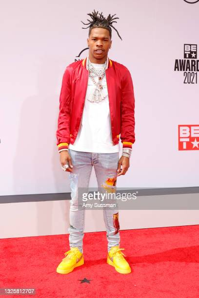 Lil Baby attends the BET Awards 2021 at Microsoft Theater on June 27, 2021 in Los Angeles, California.