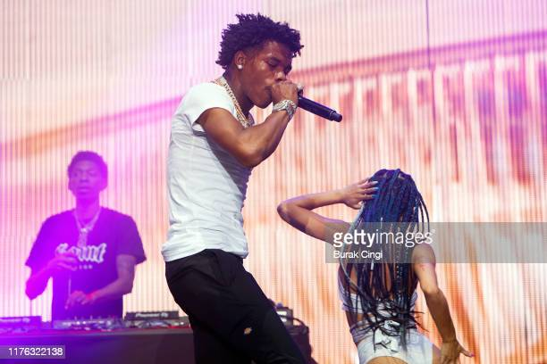 Lil Baby performs live on the BBC Radio 1 stage during day three of Reading Festival 2019 at Richfield Avenue on August 25 2019 in Reading England