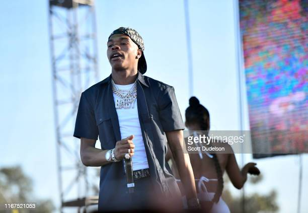 Lil Baby performs onstage during the 923 Real Street Festival at Honda Center on August 11 2019 in Anaheim California