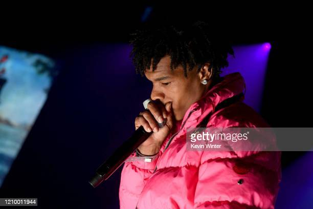Lil Baby performs onstage during the iHeartRadio Album Release Party with Lil Baby at the iHeartRadio Theater on March 02 2020 in Burbank California