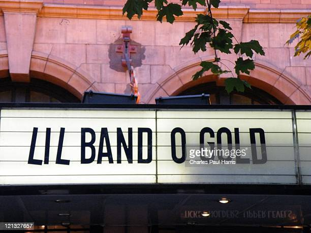 Lil' Band O' Gold on the marquee of the O2 Shepherd's Bush Empire on June 14, 2011 in London, England.