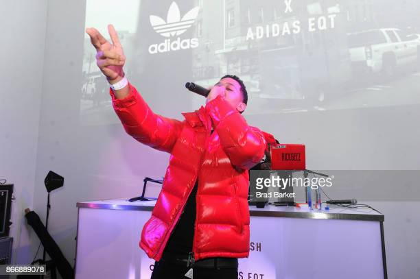 Lil Bibby performs at the Launch Of Pusha T's Latest Collaboration With adidas Originals KING PUSH X ADIDAS ORIGINALS EQT 'BODEGA BABIES' on October...