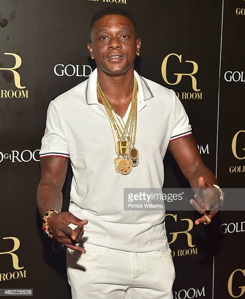 Lil Boosie attends Meek Mill Album Release Party at Gold Room on July 9 2015 in Atlanta Georgia