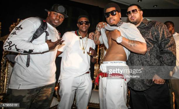 Lil Boosie Brother and label mates The LIL Boosie press conference at W Hotel New Orleans on March 10 2014 in New Orleans Louisiana
