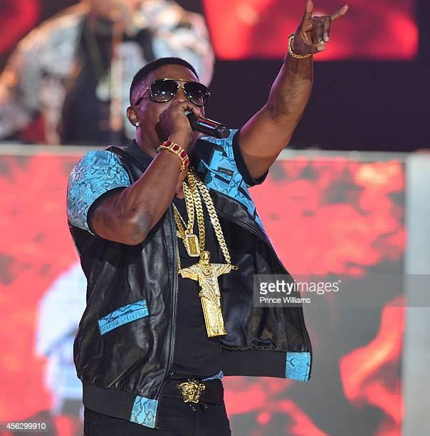 Lil Bossie performs at the BET Hip Hop awards at Boisfeuillet Jones Atlanta Civic Center on September 20 2014 in Atlanta Georgia