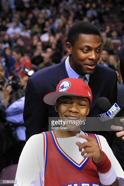 Lil Bow Wow and Chris Tucker at the NBA AllStar Game at the First Union Center in Philadelphia Pa 2/10/02 Photo by Scott Gries/NBAE/ImageDirect
