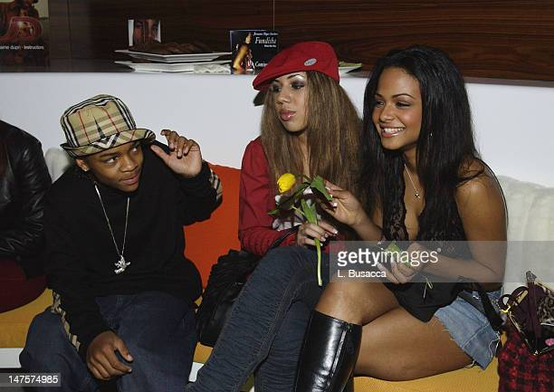 Lil' Bow Wow and Christina Milian during Playstation 2 Grammy Party Hosted by Jermaine Dupri at Pacific Design Center in West Hollywood California...