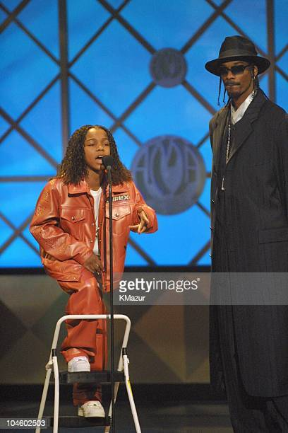 Lil' Bow Wow and Snoop Dogg during The 28th Annual American Music Awards at Shrine Auditorium in Los Angeles California United States