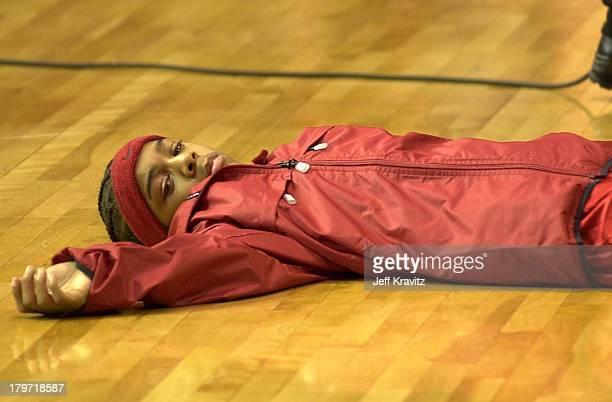 Lil Bow Wow during MTV's Rock 'N Jock NBA AllStar Jam at Philadelphia Convention Center in Philadelphia Pennsylvania United States