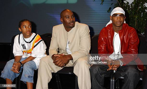 Lil' Bow Wow Morris Chestnut Ja Rule at the 2nd Annual BET Awards nominations press conference held at the Kodak Theater in Hollywood California May...