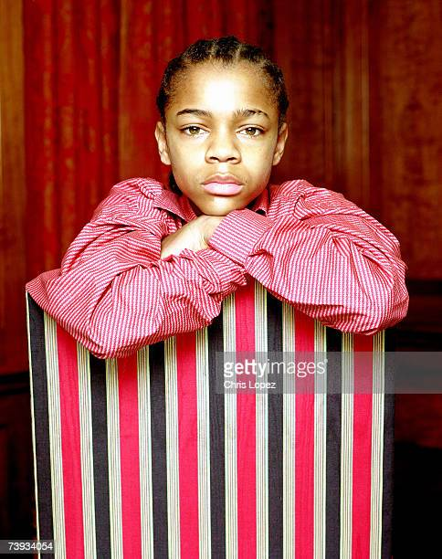 Lil Bow Wow press shoot the day after his thirteenth birthday Grovesnor Hotel London