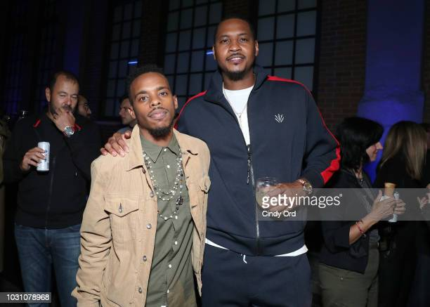 Lil Buck and Carmelo Anthony attend the screening of the rag bone film Time Of Day at The High Line on September 10 2018 in New York City