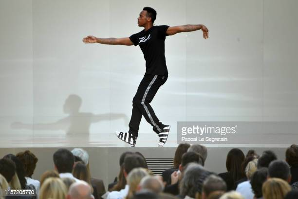 Lil Buck performs on stage during the Karl Lagerfeld Homage at Grand Palais on June 20, 2019 in Paris, France.