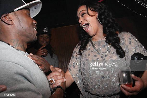 Lil Cease and Faith Evans attend A Celebration of the Legacy of The Notorious BIG at Rebel NYC on March 9 2012 in New York City